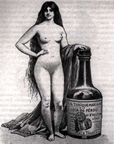 photo of an advertisement for coca wine